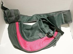 Mesh Hands Free Small Dog Cat Sling Over Shoulder Carrier up to 15lbs
