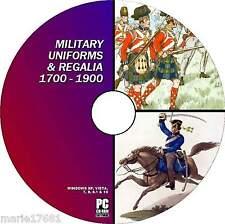 THOUSANDS VINTAGE MILITARY UNIFORM IMAGES FRENCH PRUSSIAN BUCQOY ETC NEW PC DVD