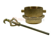 Brass Swivel Adapter Combo 2 12 Nstf X 2 12 Nstf Withhydrant Wrench