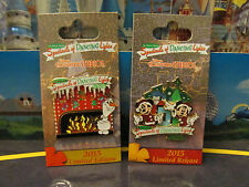 Disney 2015 Osborne Spectacle of Dancing Lights 2 Pin Set - Mickey, Minnie, Olaf