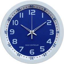 Funk Wand Uhr Wand Funkwanduhr Funkuhr Wanduhr funkgessteuert automatik blau