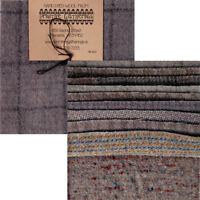 Primitive Gatherings Hand Dyed Wool Grey Cement Charm Pack 10 5-inch Squares PRI