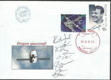 Space mail flown cover /Dragon SpaceX astronaut autograph cosmonaut autograph