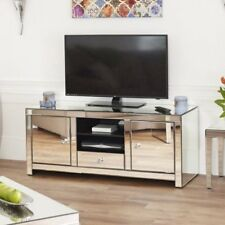 Venetian Mirrored Widescreen TV Unit - up to 60inch - Media Storage Cabinet TFM7