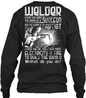 Cozy - Welder Everyday Using The Hand Of A Gildan Long Sleeve Tee T-Shirt