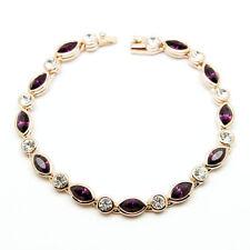 ~AMETHYST DREAM~ Bracelet with Genuine Swarovski Crystals