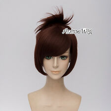 Overwatch Mei Reddish Brown Short 30CM Anime Cosplay Wig + Wig Cap