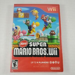 New Super Mario Bros. Wii (Wii, 2009) FACTORY SEALED Red Case READ