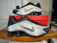 Nike Shox R4 104265-045 Mens Shoes Black Metallic Silver Unisex Running Sport