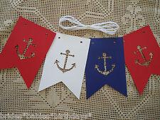 Nautical Bunting Banner Flags Garland Wedding Baby Shower birthday Sailor D8