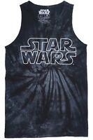 Star Wars Outline Logo Luke Skywalker Han Solo Movie Film Black Tie-Dye Tank Top