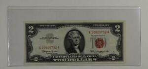 1963 $2 TWO DOLLAR UNITED STATES NOTE RED SEAL CRISP UNCIRCULATED