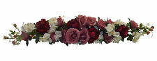 LARGE BURGUNDY MAUVE SWAG ~ Centerpiece Silk Wedding Flowers Arch Decoration 50""