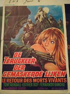 1971 TOMBS OF THE BLIND DEAD Dutch VINTAGE HORROR MOVIE POSTER PRINT