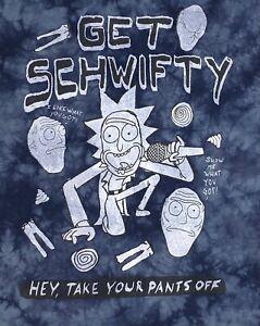 Rick & Morty Tie Dye Graphic Print T-Shirt Men's Size M
