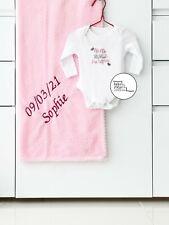 2-Items Personalised Blanket & Bath Towel Bundle Gifting Set: Baby Kids Toddler