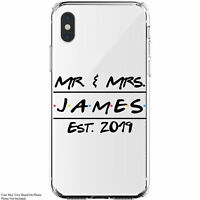 Personalized Mr. & Mrs. Friends Themed Wedding Custom Monogram iPhone 11 Case