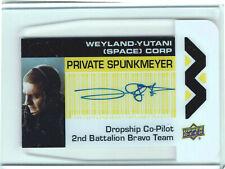 Aliens Movie 2018 Plexi Card Autograph WY-PS Daniel Kash as Private Spunkmeyer