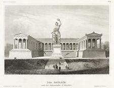 Munich-Bavaria et le Panthéon-Meyer-Acier Pli 1857-1860