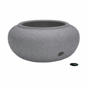 "HC Companies 21"" Decorative Plastic Garden Hose Storage Pot, Granite (Open Box)"
