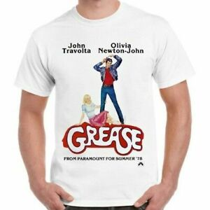 The Grease Movie T-SHIRT John Travolta Retro Musical Cool DANNY SANDY Retro TEE