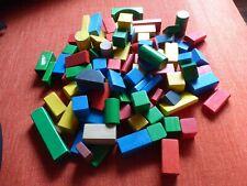 Holzbausteine 90 Stück - beeboo -bunte Holzbauklötze Bauklötze Holzspielzeug