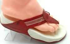FITFLOP Red / White Thong Sandals  Size EU 39 US 8   308