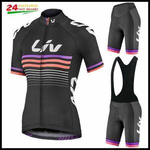 Women LIV Short Sleeve Cycling Set Summer Women MTB Bicycle Cycling Clothing