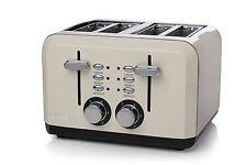 Haden Perth Sleek Sophisticated 4 Slice Toaster Cream Adjustable Stainless Steel