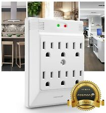 Fosmon [ETL Listed] 6 Outlet 700 J Wall Tap Mount Surge Protector Outlet Plug
