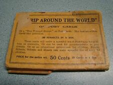 TRIP AROUND THE WORLD 1 CENT POSTCARDS EARLY 1900'S 25 CARDS IN PACKAGE
