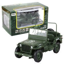 New KDW Jeep Willys 1:18 Scale Diecast Model Military US Army Vehicle Toys