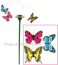 Solar Erdspieß 3 Farbig Schmetterling Deko Butterfly Garten Haus Dekoration neu