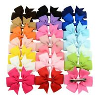 20PCs Set Baby Girl Toddler Child Kid Hair Bow Clips Hair Accessory Bulk