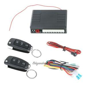 Car Alarm Auto Remote Control Central Locking Door Kit Keyless Entry Open System