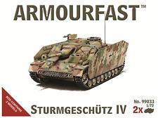 StuG/Sturmgeschutze IV (x2) 1/72 Tank kit Hat Armourfast 99033 Free post