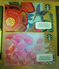 2019 set of 2  Starbucks Sakura Cards Cherry Blossom  Philippines pin intact