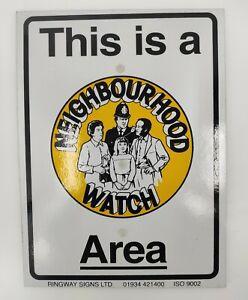Neighbourhood Watch Area Safety Sign