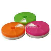 7 Day Weekly Tablet Pill Medicine Box Case Holder Container Round  HF