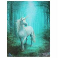 UNICORN 'FOREST UNICORN' CANVAS MYTHICAL MAGICAL PLAQUE BY ANNE STOKES WALL ART