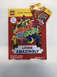 Sainsbury's LEGO Album Create the World Living Amazingly 2020 Book *NEW*