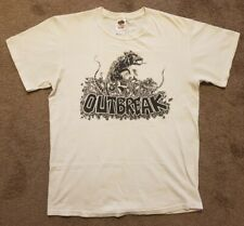 Outbreak T Shirt M Medium Hardcore Trash Punk White