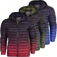 Crosshatch Mens Quilted Padded Hooded Puffer Jacket Winter Insulated Bubble Coat