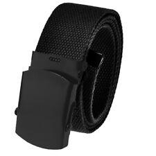 Men's Outdoor Casual Golf Belt 3.8 Black Slider with Adjustable Canvas Webbing