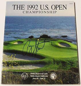 Rare PAYNE STEWART Signed 1992 U.S. OPEN Program - JSA LOA