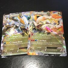 POKEMON: BLACK WHITE KYUREM EX ULTRA RARE HOLO 2 CARD SET BOUNDARIES CROSSED NM