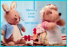 Vintage Knitting Pattern for Peter Rabbit Toy