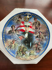 New listing Usmc Pride Bradford Exchange Plate by Jim Griffin Duty, Honor, Country Unused