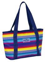 Jumbo RAINBOW Tote Lunch Bag Fun Cooler Picnic Beach Handbag Ice Stylish