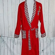 VTG Warner Bros Studio Store M/L Sylvester Tweety Bird Red Sleepwear Robe Coat